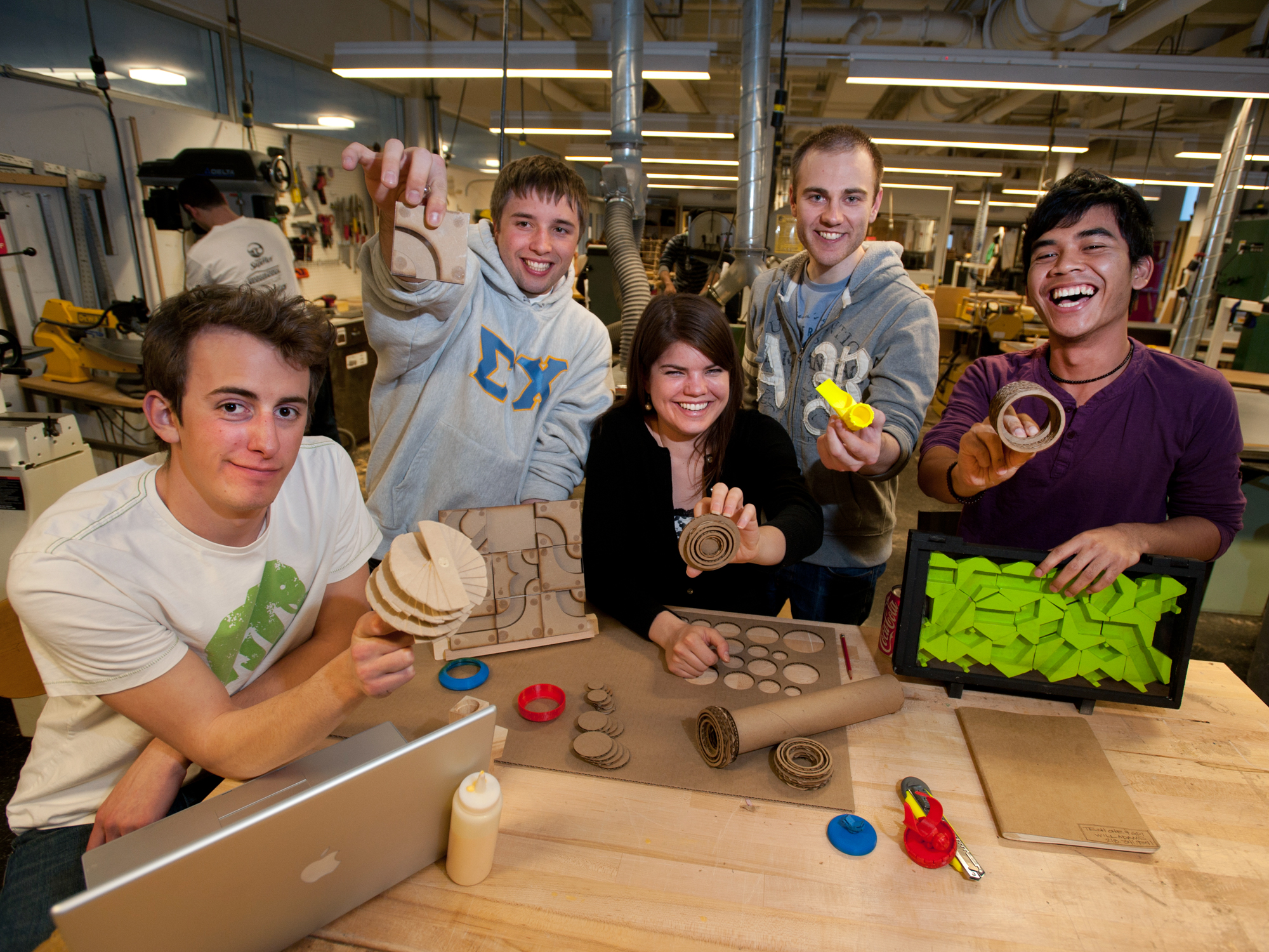 Product design students show off their toy product design prototypes